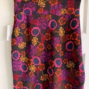 Women's Lularoe Cassie Pencil Skirt Floral Medium